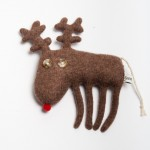 Ronnie the Reindeer Lambswool Plush - Sara Carr