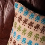 Lambswool Robot Cushion - Sarah Carr