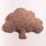 Lambswool Embroidered Oak Tree Cushion - Sara Carr